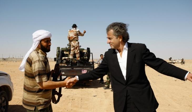 Bildresultat för برنار ليفي مع ثوار ليبيا